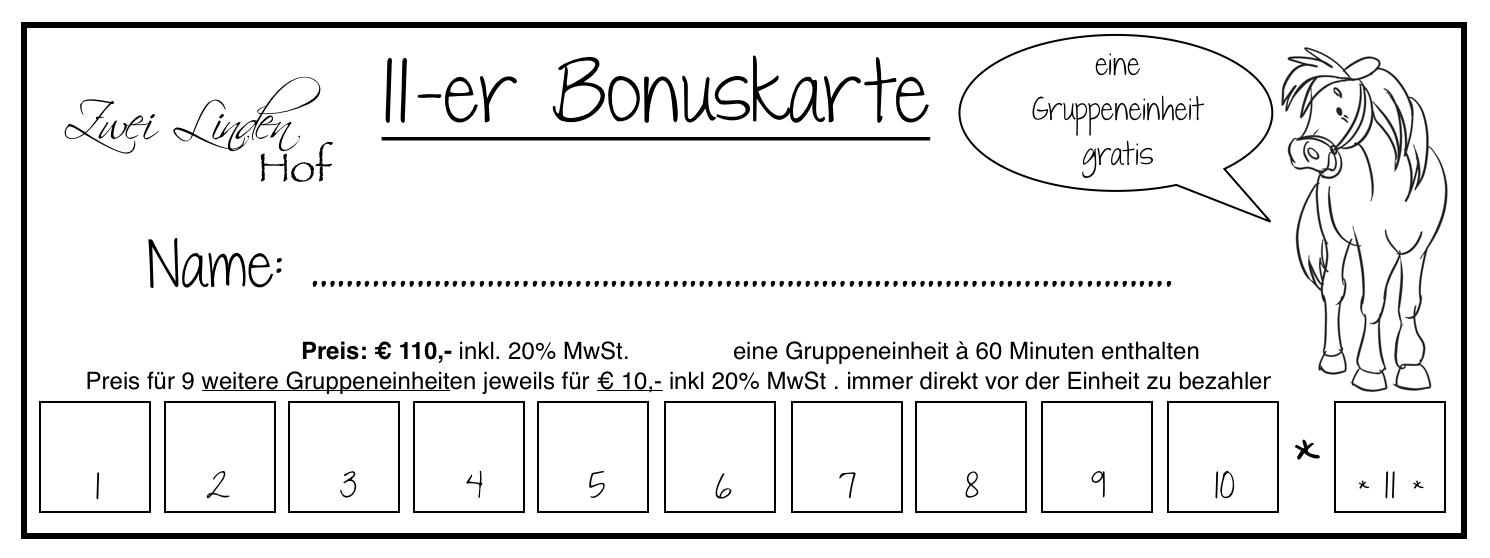 11er-Bonuskarte