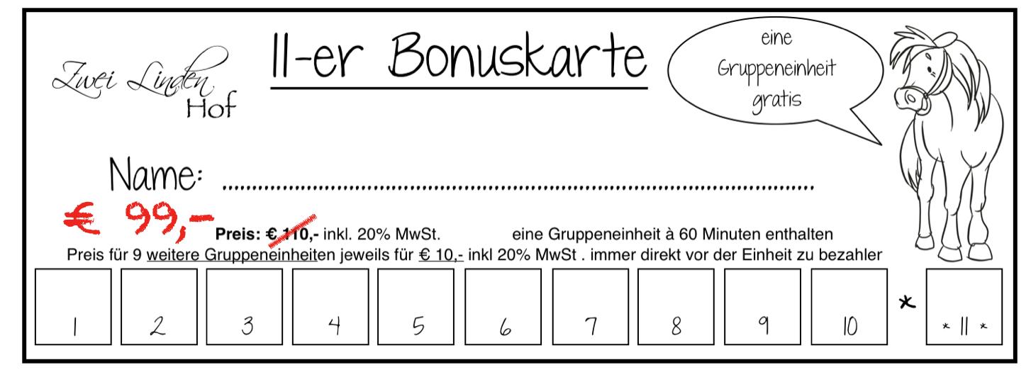 11er-Bonuskarte Herbstaktion 2017