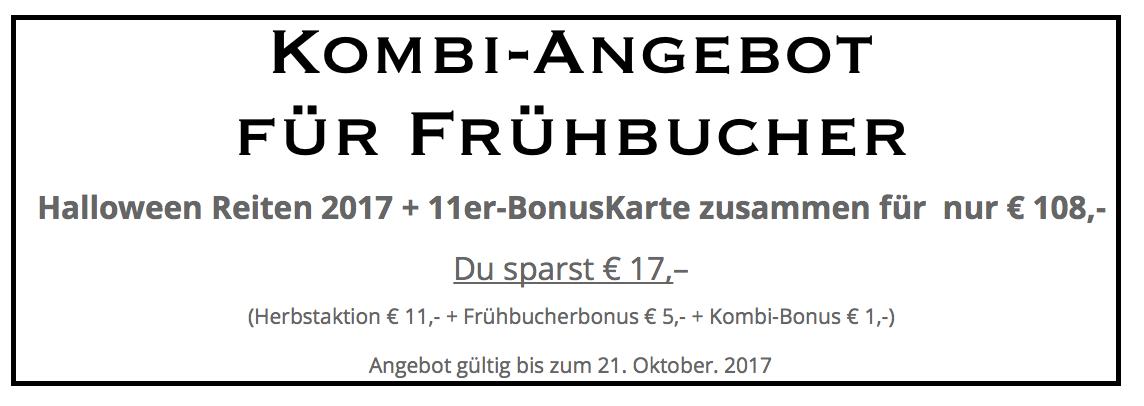 Kobi-Angebot für Frühbucher Hebstaktion 2017